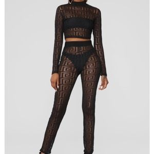 In a Daze Fashion Nova Two Piece Sept Mesh Print